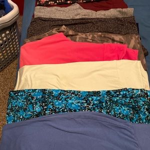 9 pairs xl soft leggings